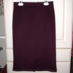 Maroon pencil skirt from Forever 21